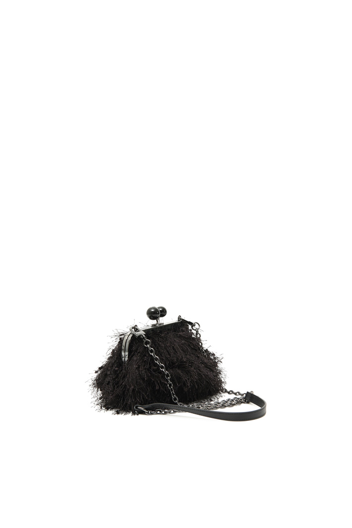 Small feather-effect clutch Intrend