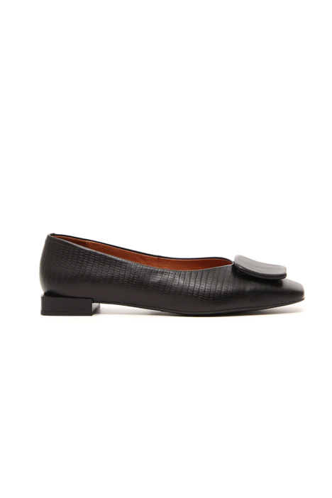 Printed leather ballerinas Intrend