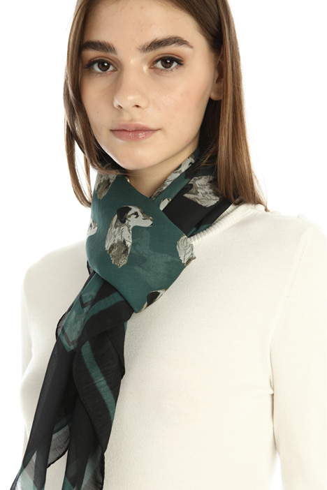 Silk and cotton stole Intrend