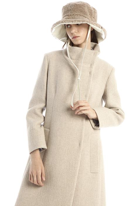 Fur effect wool hat Intrend
