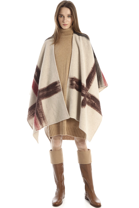 Poncho in wool blend Intrend