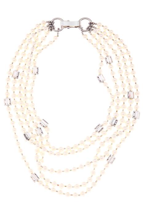 Collana multifili con perle Intrend