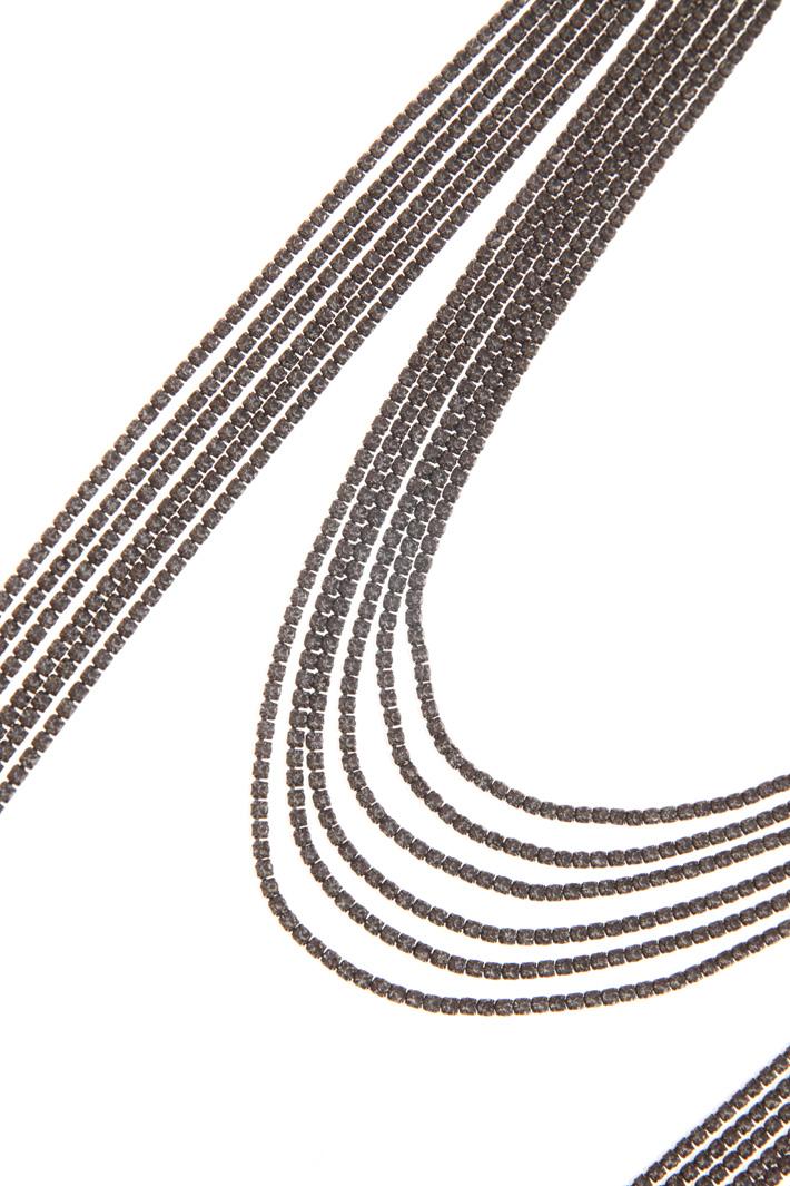 Rhinestone necklace Intrend