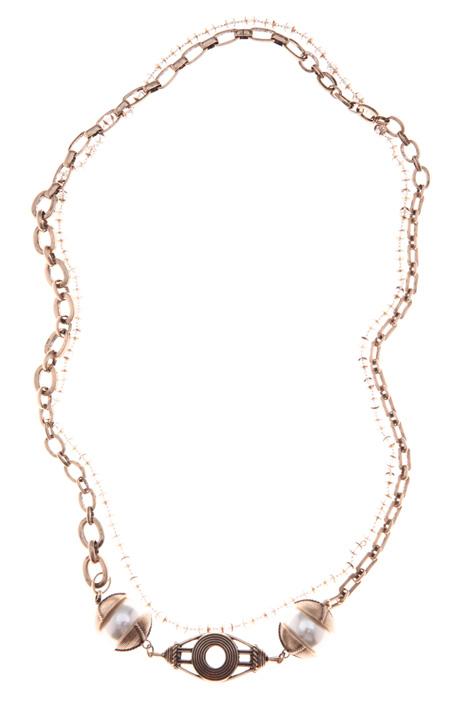 Collana multifilo con perle Intrend