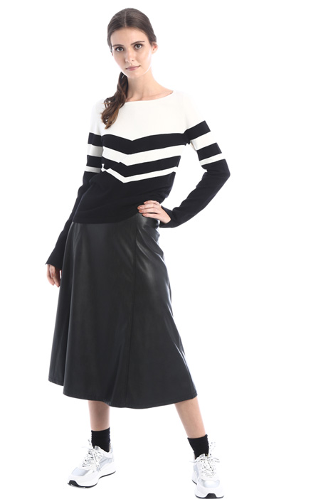 Midi skirt in faux leather Intrend