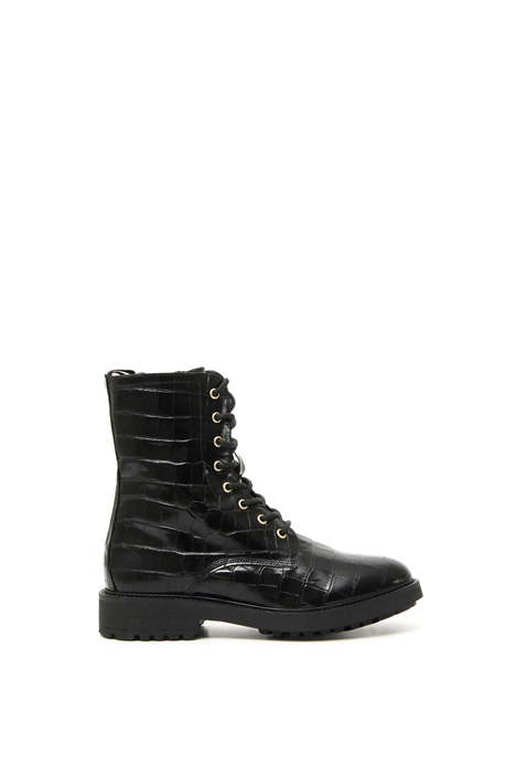 Croc print ankle-boots Intrend
