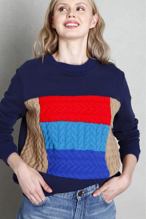Braided knit sweatshirt Intrend