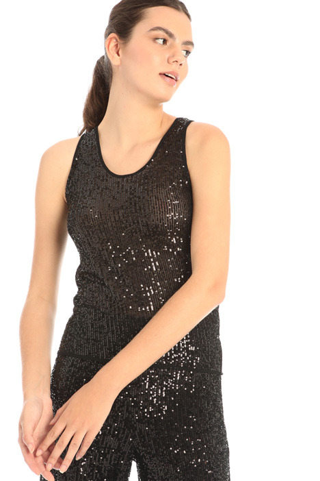 Tulle and sequin top Intrend