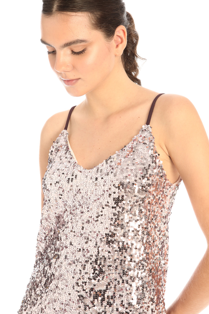Jersey and sequin top Intrend