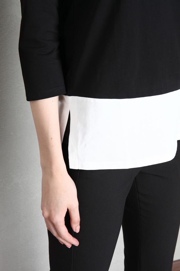 Colour-block jersey T-shirt Intrend