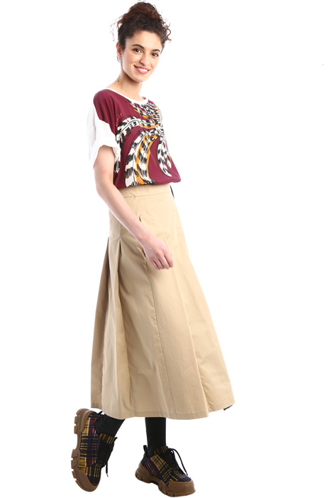 Crepe and jersey top Intrend