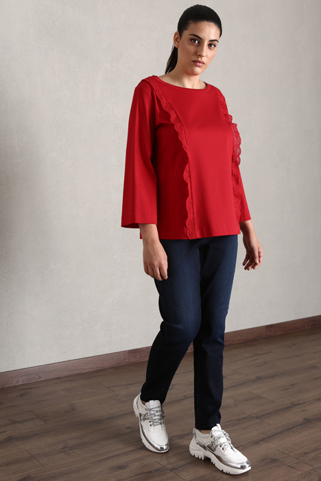 Jersey T-shirt with lace Intrend