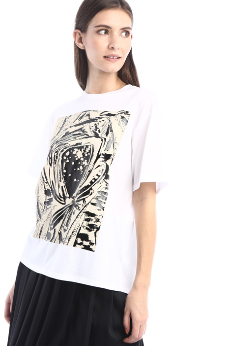 Printed cotton jersey T-shirt Intrend