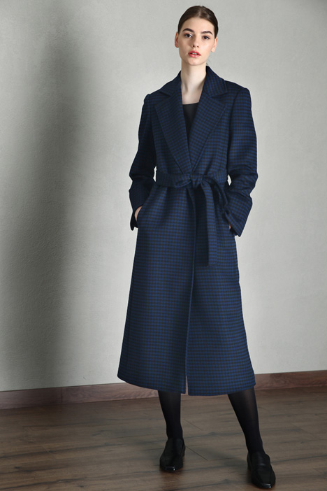 Yarn dyed cloth coat Intrend