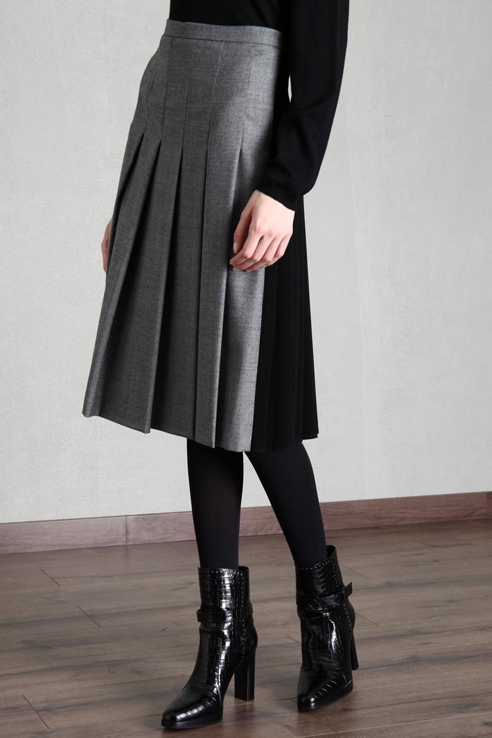 Wool flannel skirt Intrend