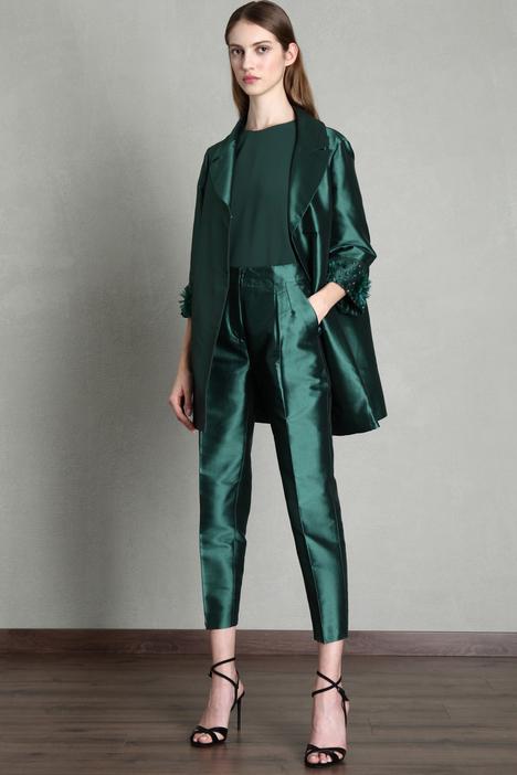 Rhinestone duster coat Intrend