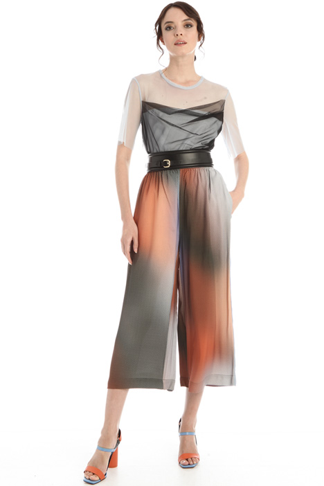 Wide leg sable trousers  Intrend