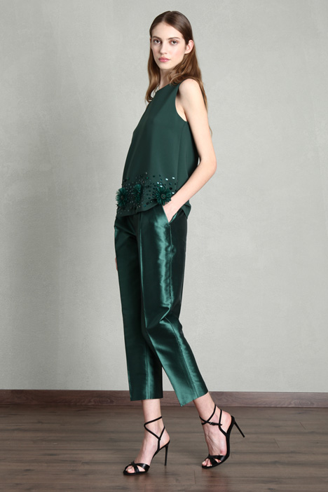 Cotton taffeta trousers Intrend