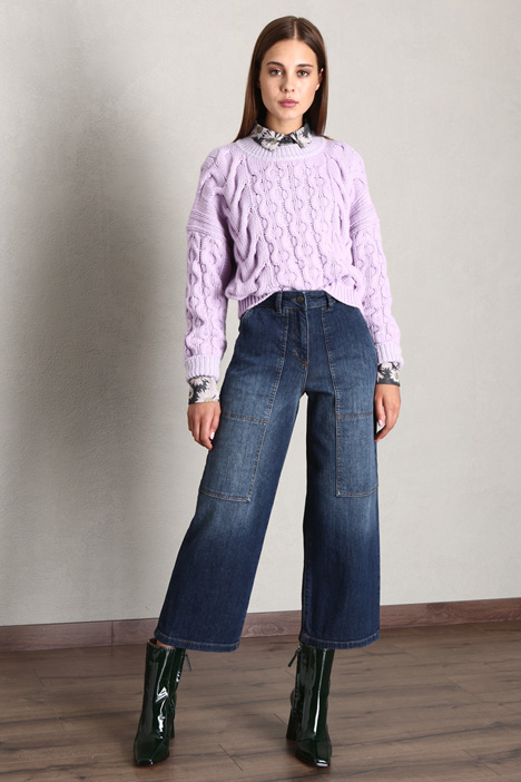 Stitched crop jeans Intrend