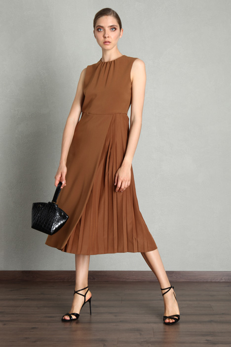 Pleated cady dress Intrend