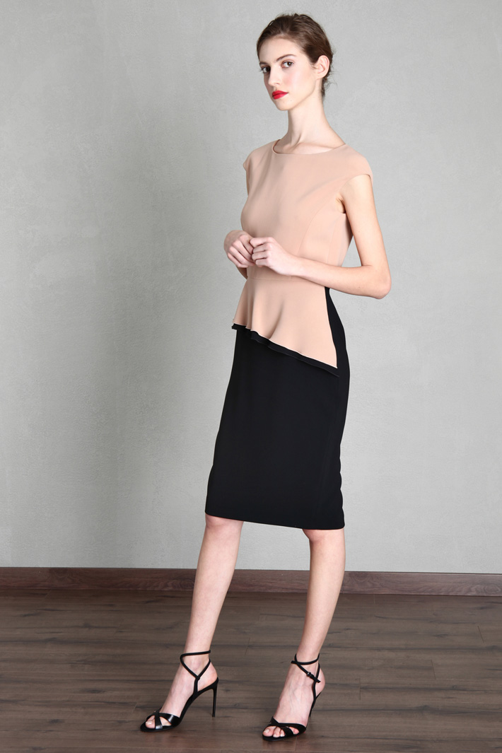 Two-tone cady dress Intrend