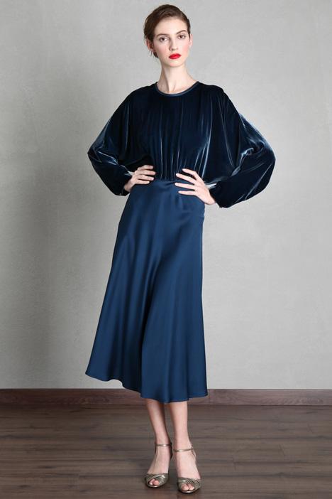 Viscose and silk velvet dress Intrend