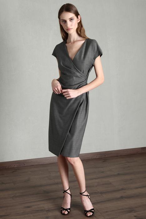Draped wool and silk dress Intrend