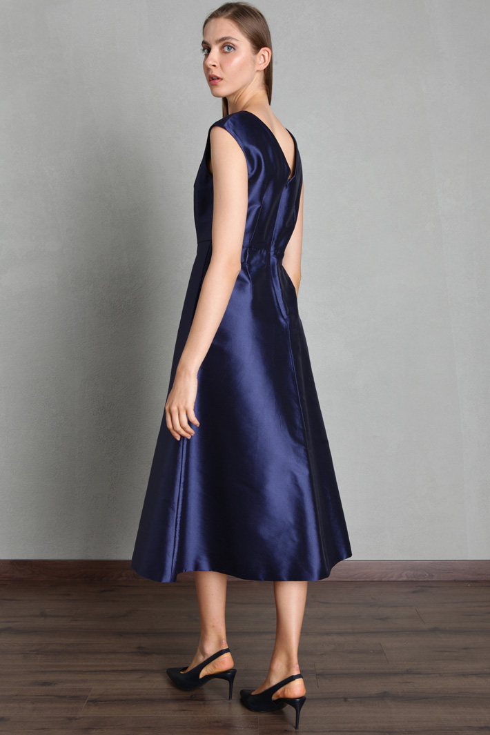 Belted taffeta dress Intrend