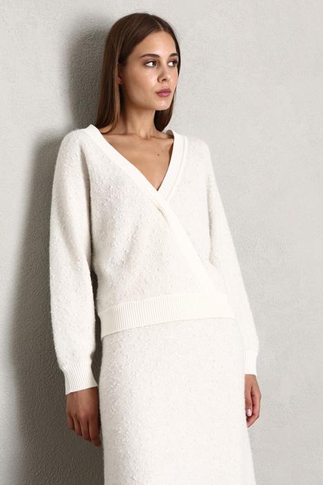 Tweed-effect sweater Intrend