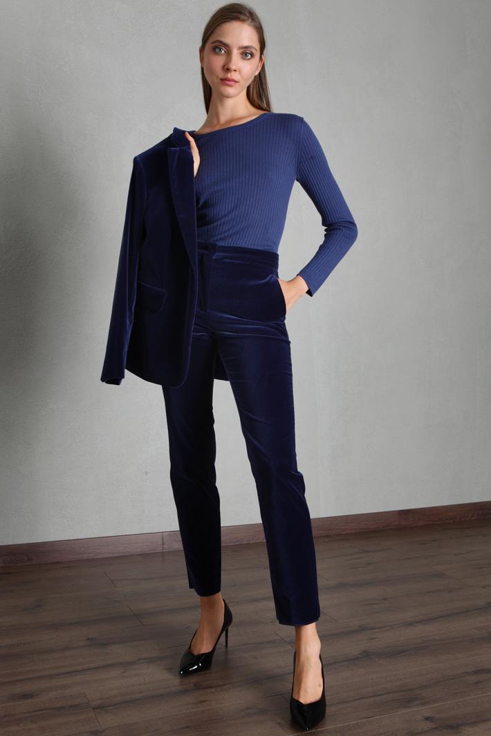 Silk and wool yarn sweater Intrend