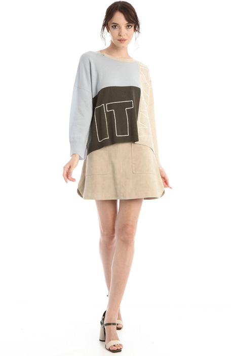 Suede leather skirt Intrend