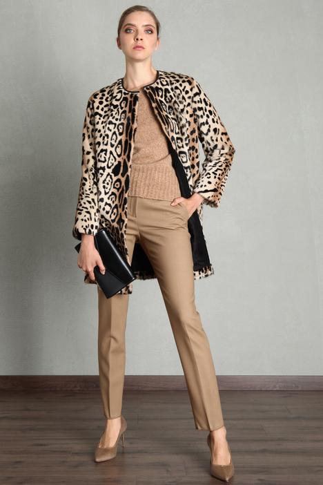 Printed fur jacket Intrend