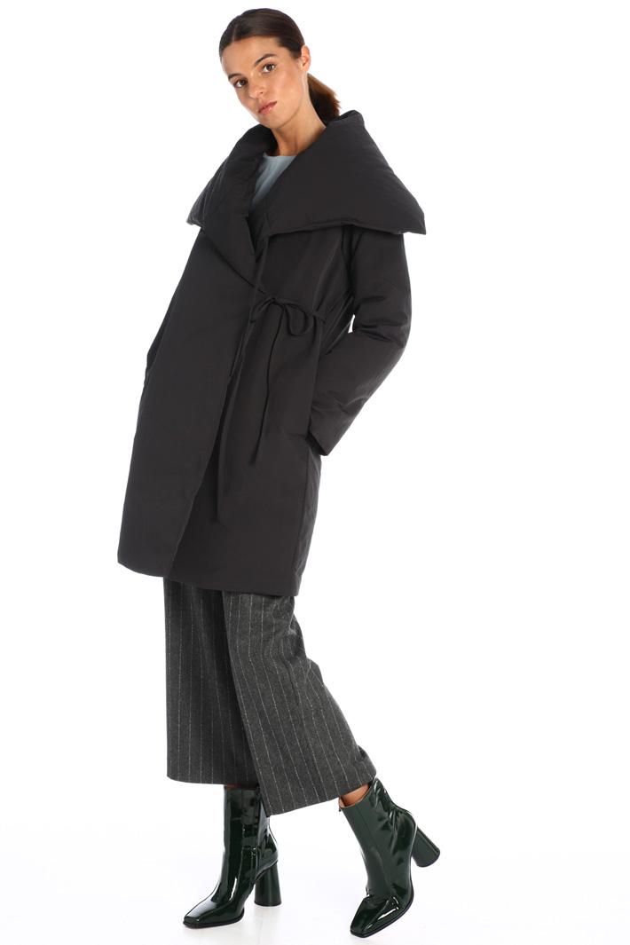 Maxi lapel down coat Intrend