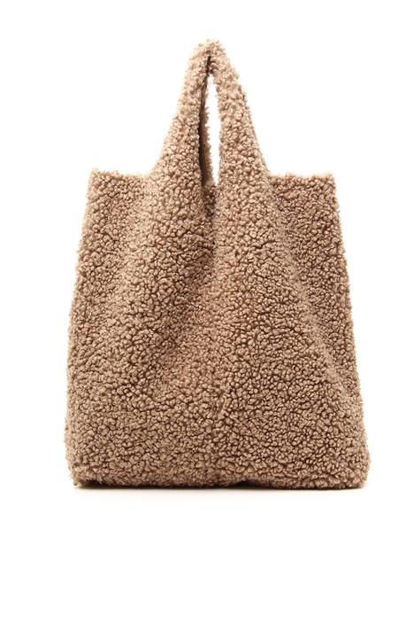 Shearling effect shopper bag Intrend