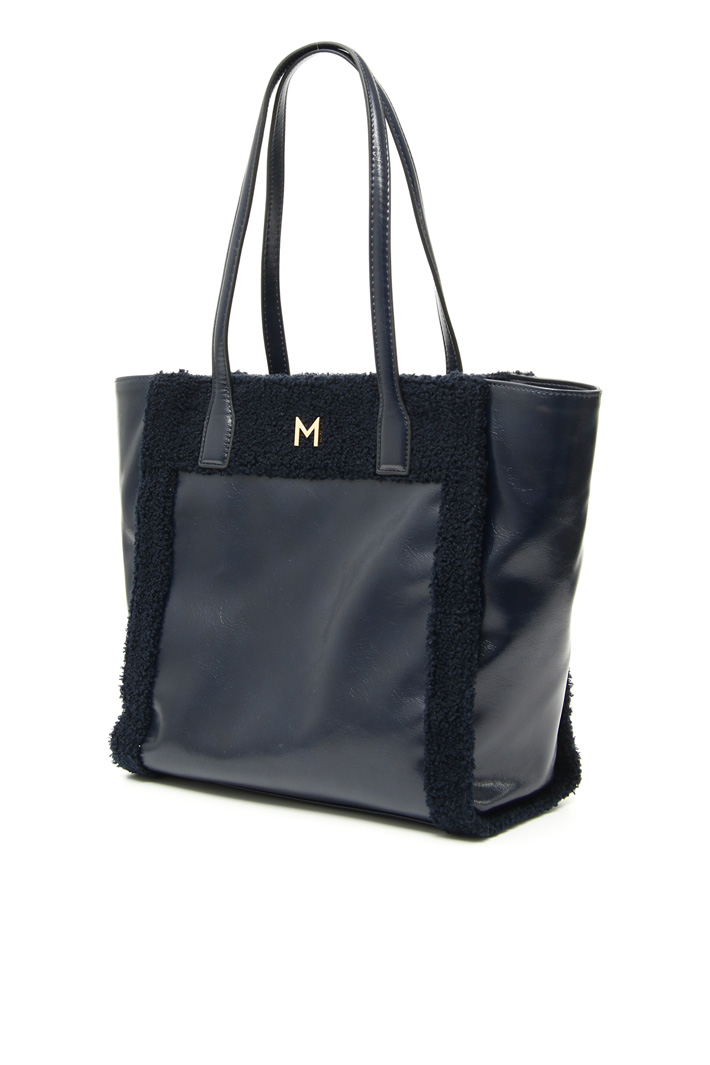 Shopper bag with plush inserts Intrend