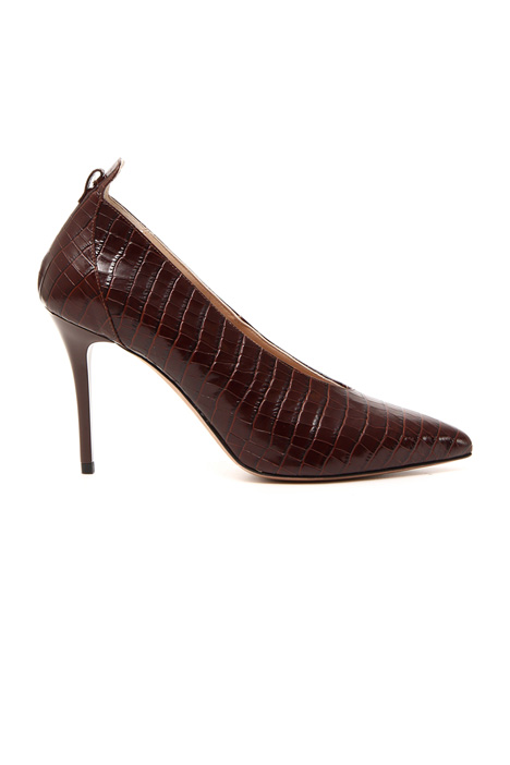 Ankle strap leather courts Intrend