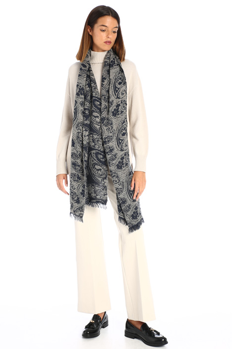 Wool jacquard scarf Intrend