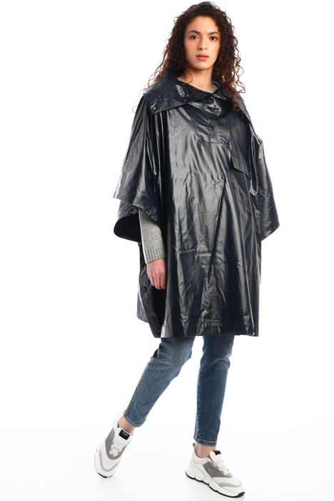 Coated effect rain coat Intrend