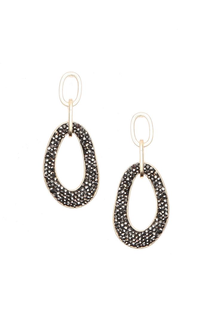 Rhinestone earrings Intrend