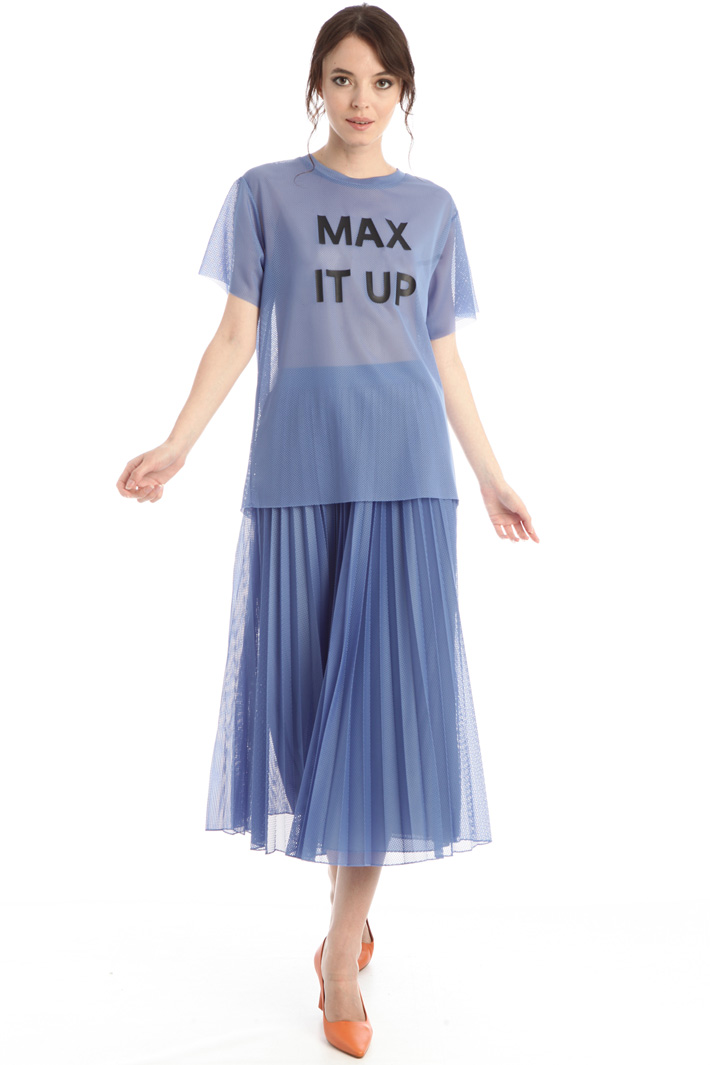 Pleated mesh skirt Intrend