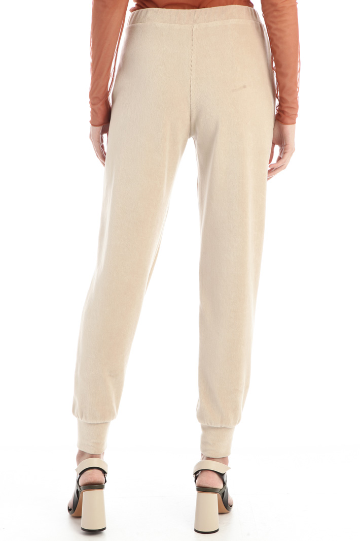 Velvet jersey trousers Intrend