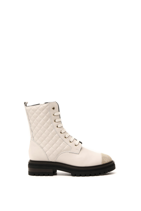 Leather combat boots Intrend