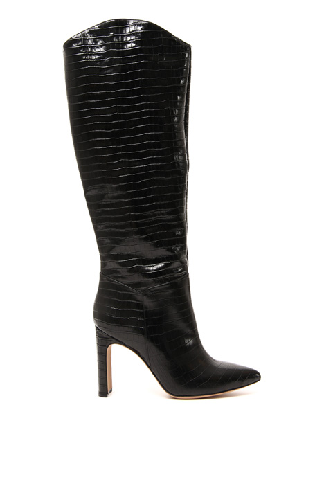 Croc leather boots Intrend