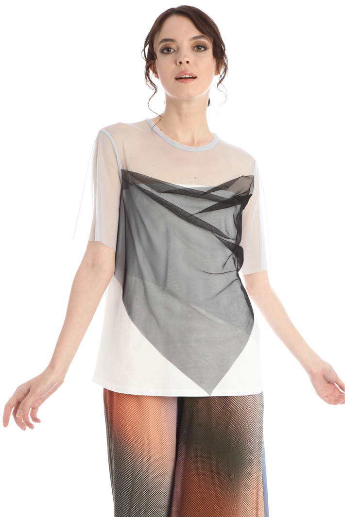Tulle and jersey top Intrend