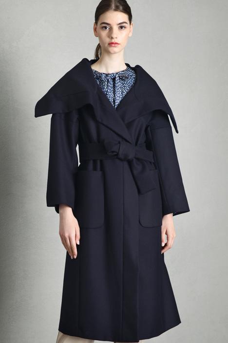 Cappotto in twill di lana Intrend