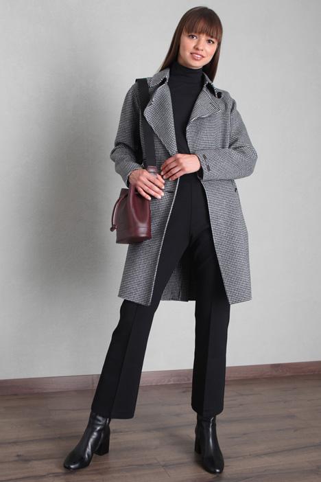 Cappotto in drap con cintura Intrend