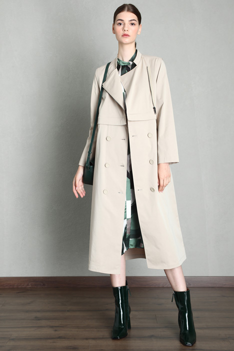 Cotton modular trench Intrend