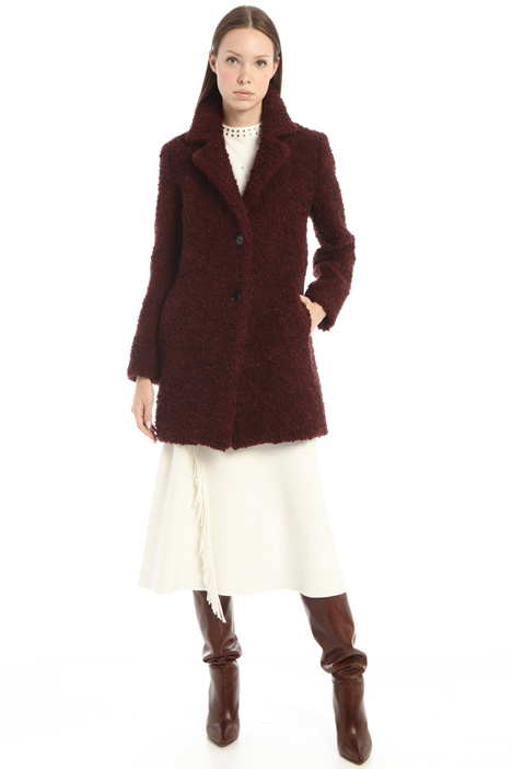 Cappotto bouclé in lana Intrend