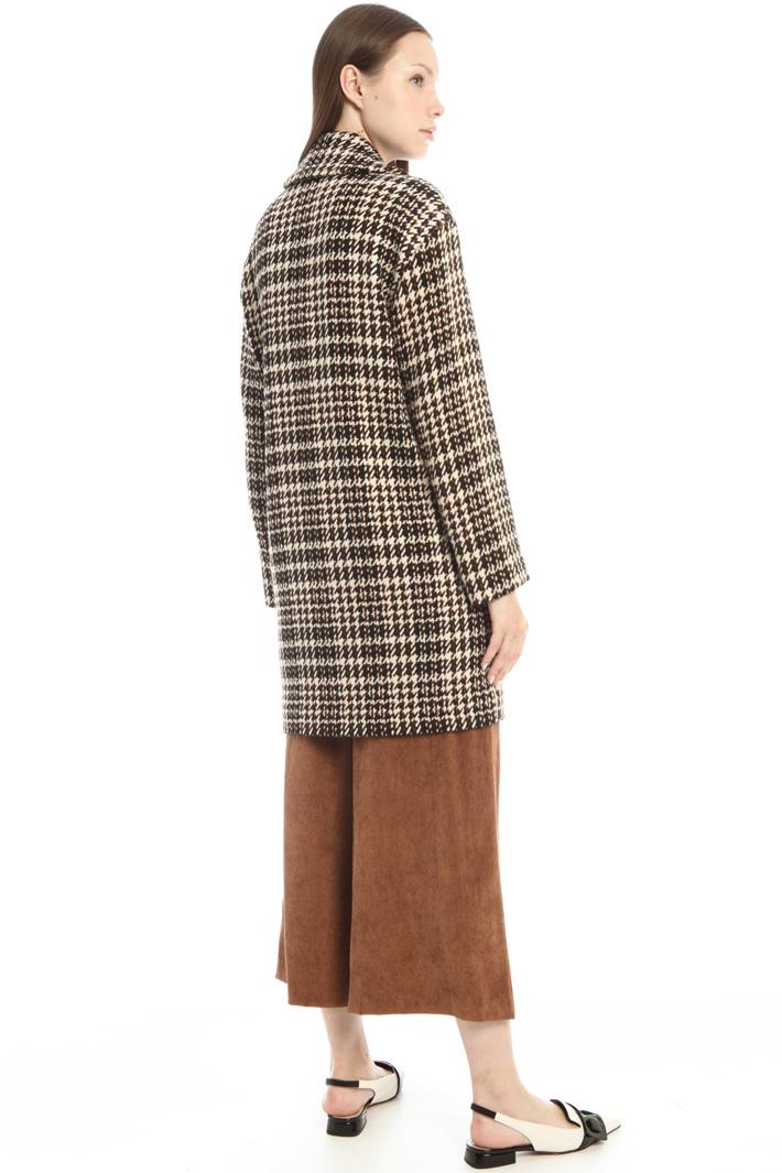 Lurex jacquard coat Intrend