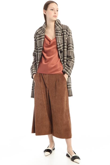 Cappotto in lana jacquard lamè Intrend